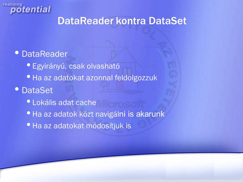 DataReader kontra DataSet