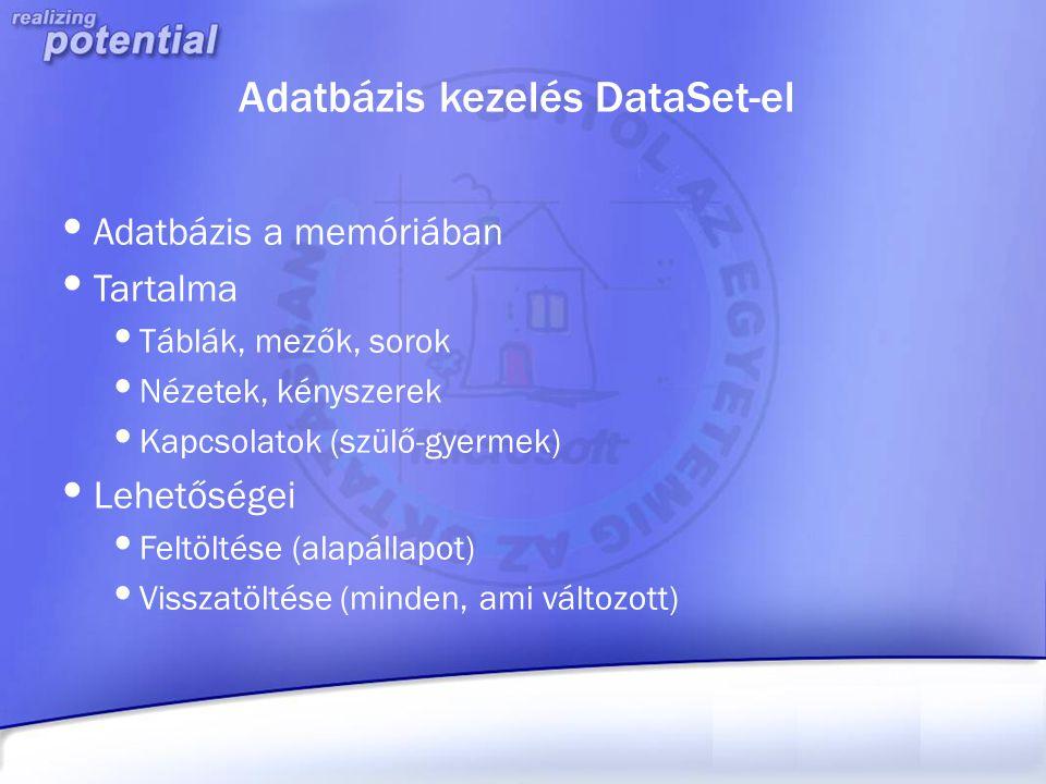 Adatbázis kezelés DataSet-el