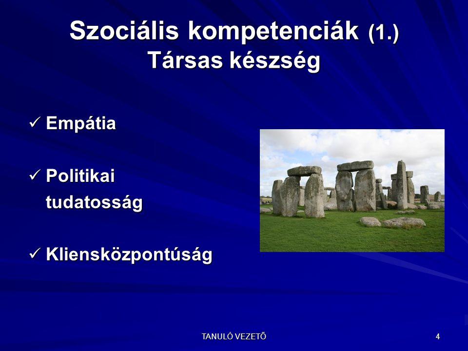 Szociális kompetenciák (1.) Társas készség