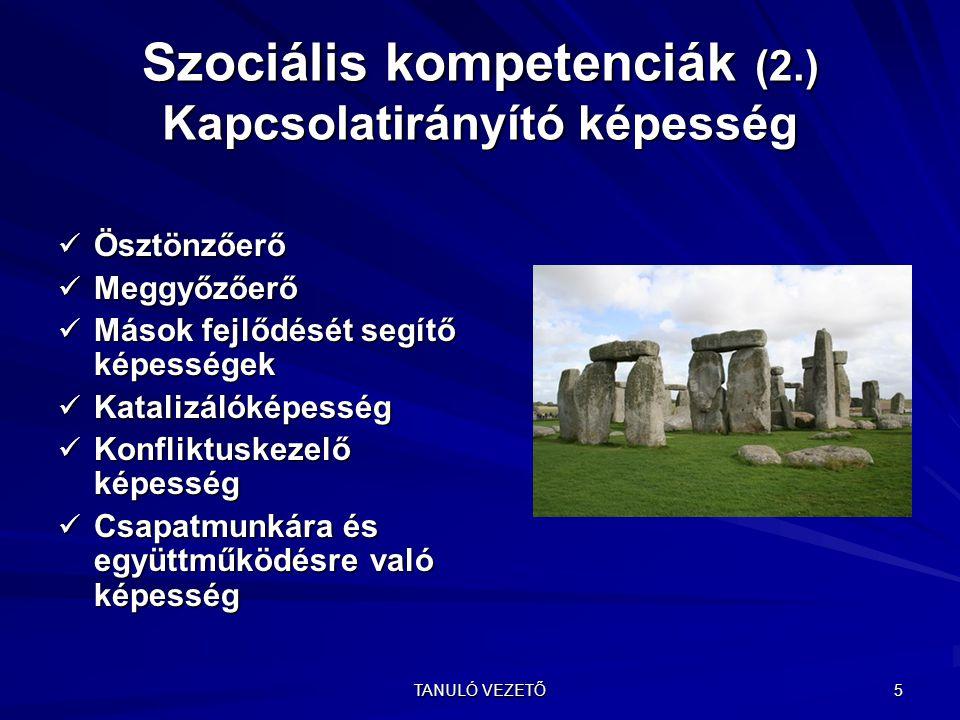 Szociális kompetenciák (2.) Kapcsolatirányító képesség