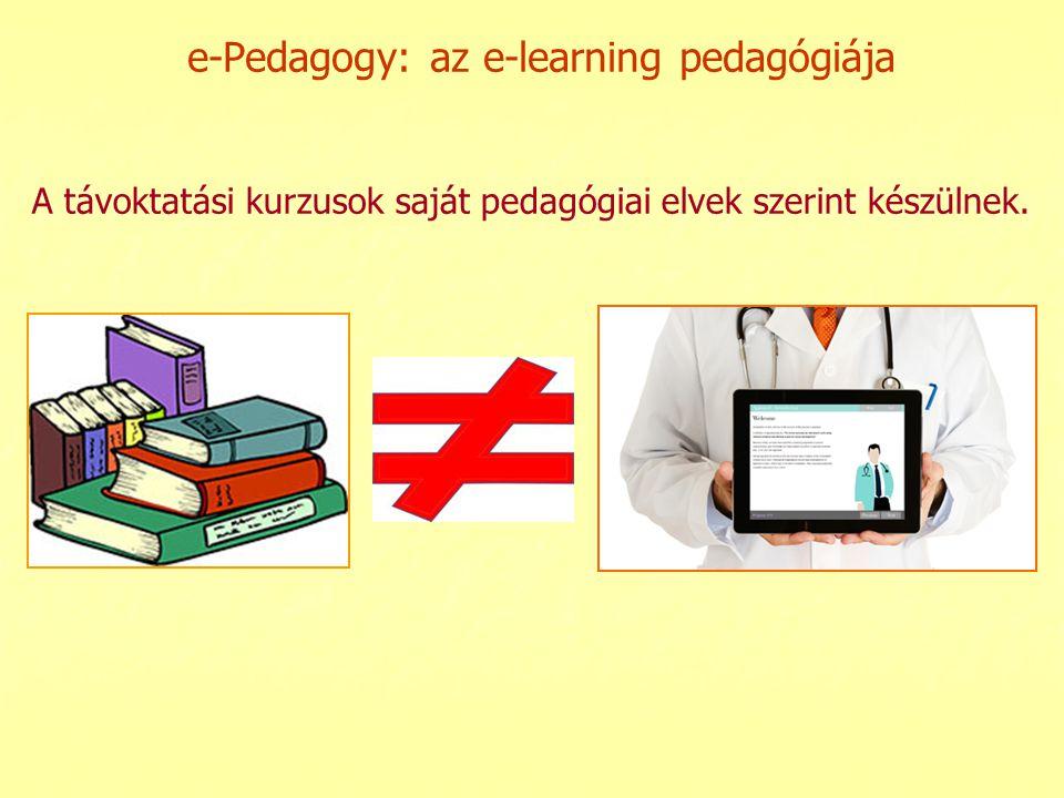 e-Pedagogy: az e-learning pedagógiája
