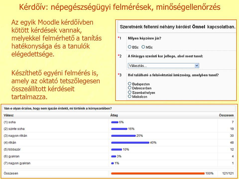 Kérdőív: népegészségügyi felmérések, minőségellenőrzés