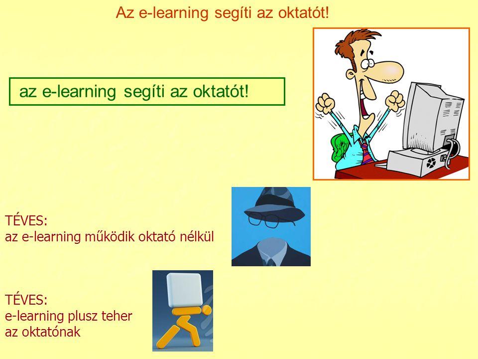 az e-learning segíti az oktatót!