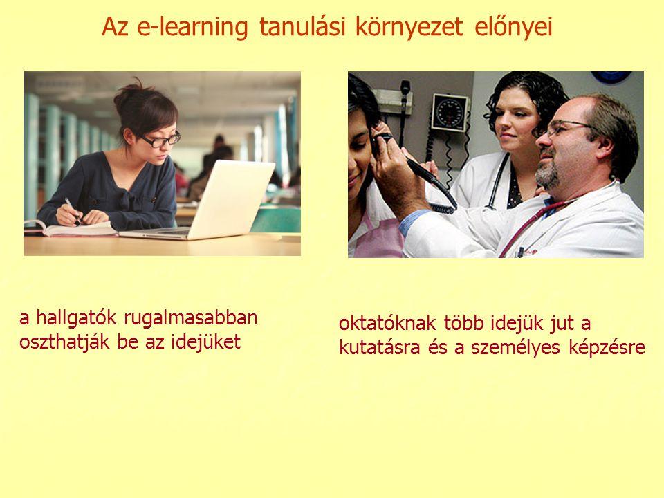 Az e-learning tanulási környezet előnyei
