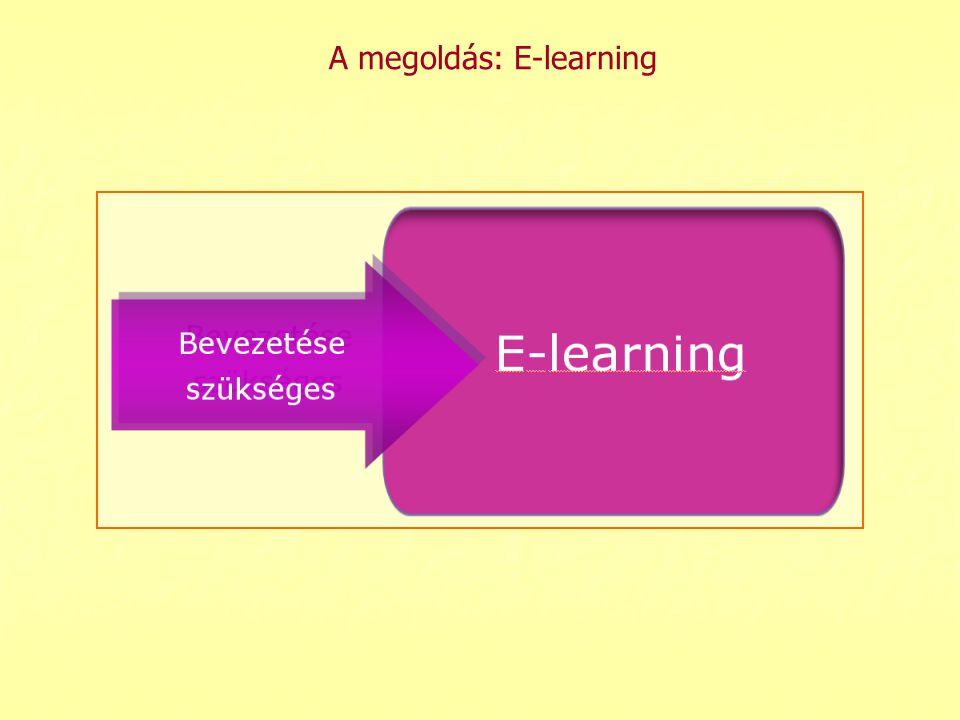 A megoldás: E-learning