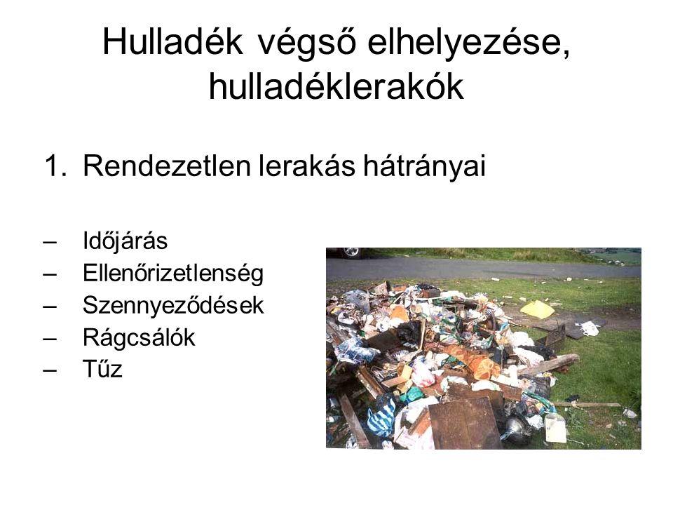 Hulladék végső elhelyezése, hulladéklerakók