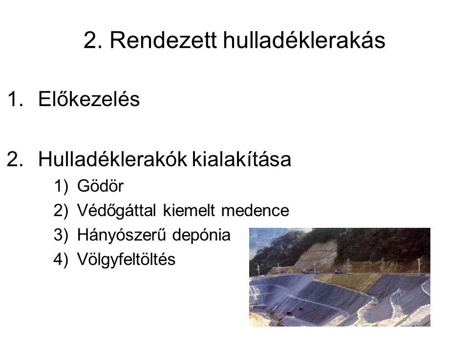2. Rendezett hulladéklerakás