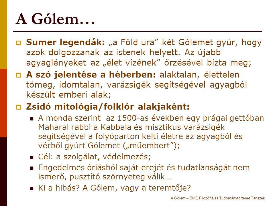 A Gólem…