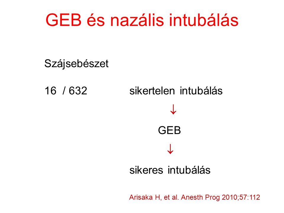 GEB és nazális intubálás