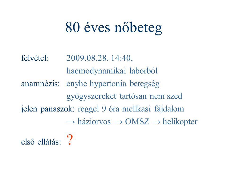 80 éves nőbeteg felvétel: 2009.08.28. 14:40, haemodynamikai laborból