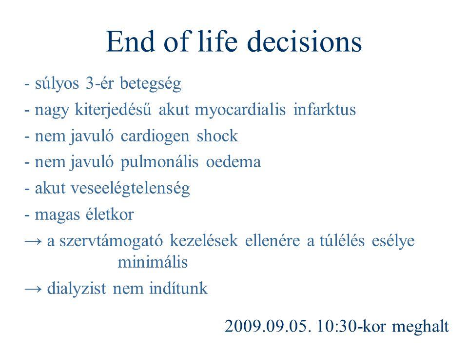 End of life decisions - súlyos 3-ér betegség