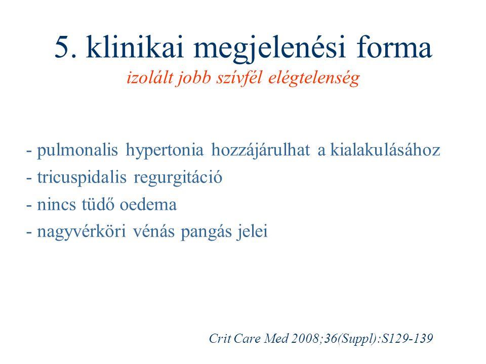 5. klinikai megjelenési forma izolált jobb szívfél elégtelenség