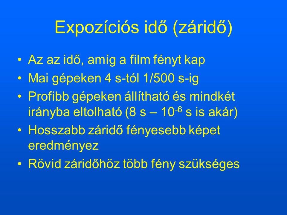 Expozíciós idő (záridő)