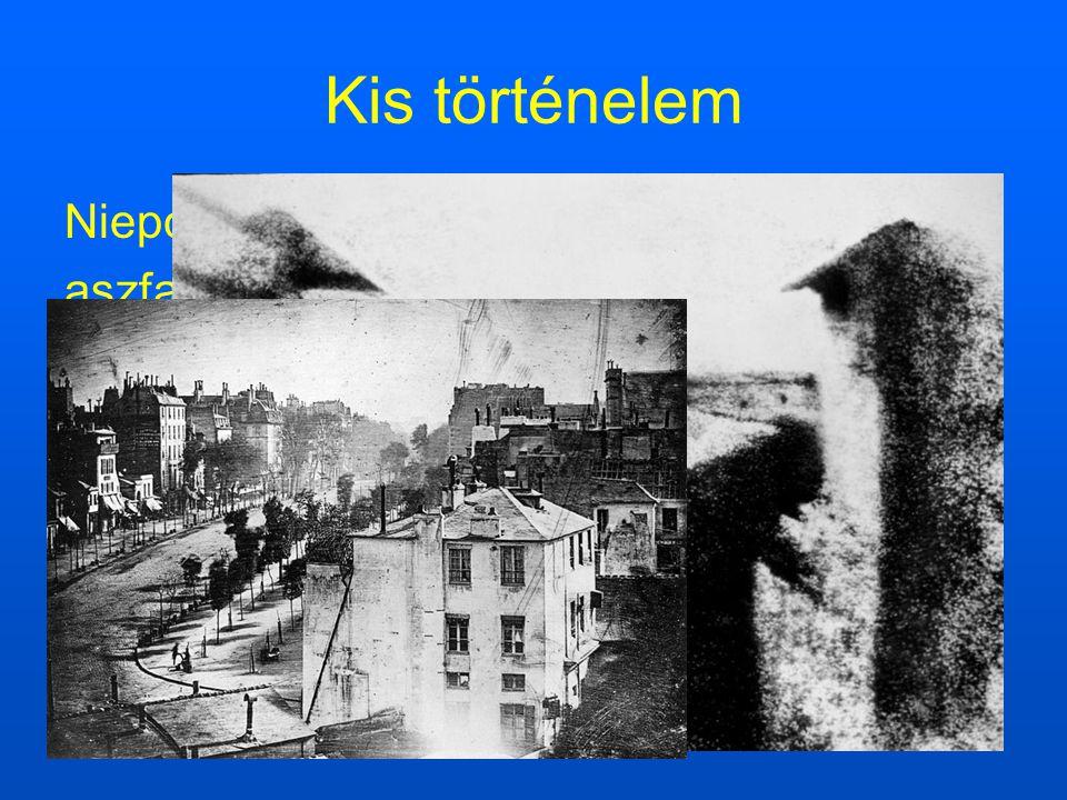 Kis történelem Niepce(1826) aszfalt réteg Daguerre(1838)