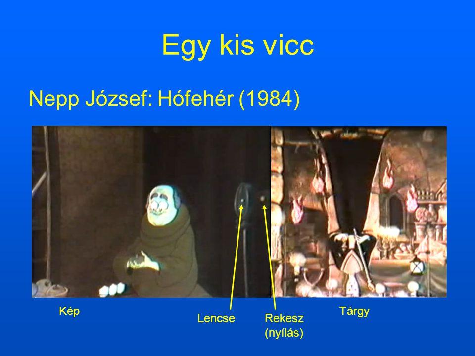 Egy kis vicc Nepp József: Hófehér (1984) Lencse Rekesz (nyílás) Kép