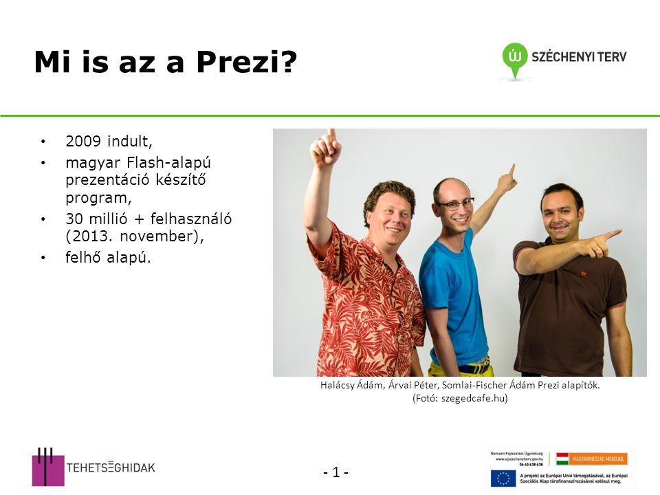 Halácsy Ádám, Árvai Péter, Somlai-Fischer Ádám Prezi alapítók.