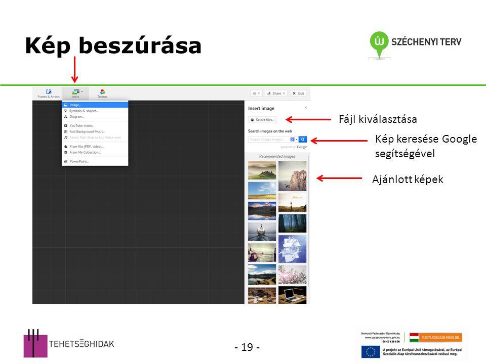 Kép beszúrása Fájl kiválasztása Kép keresése Google segítségével