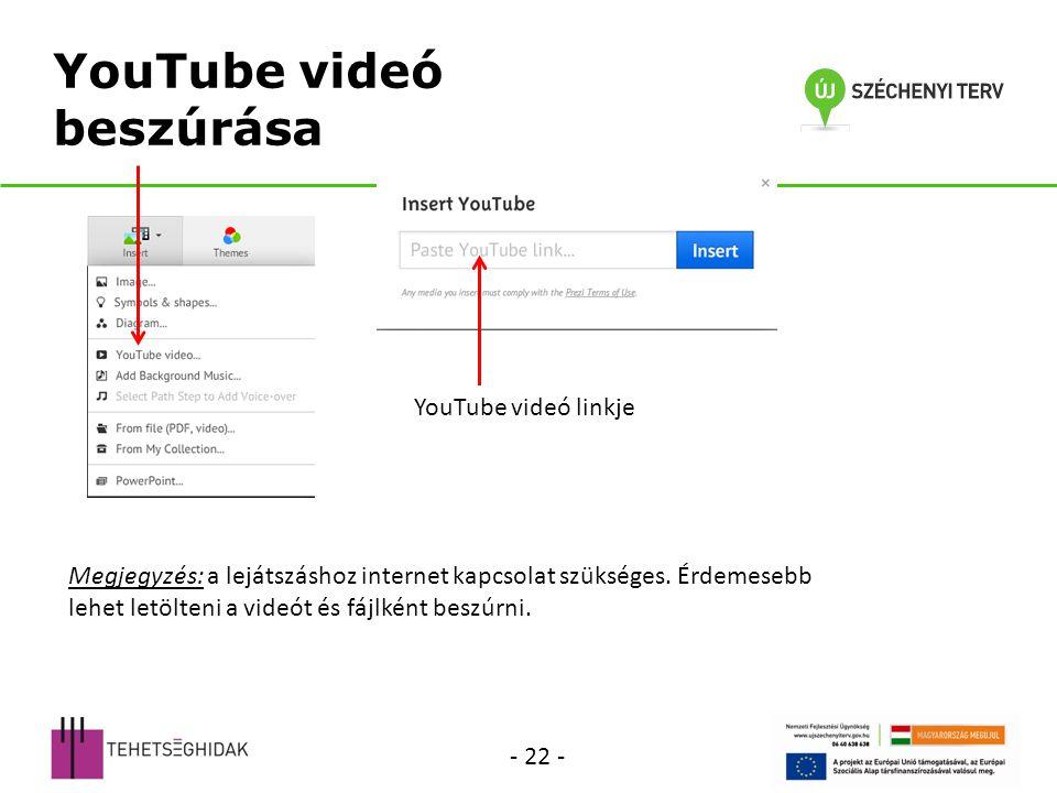 YouTube videó beszúrása