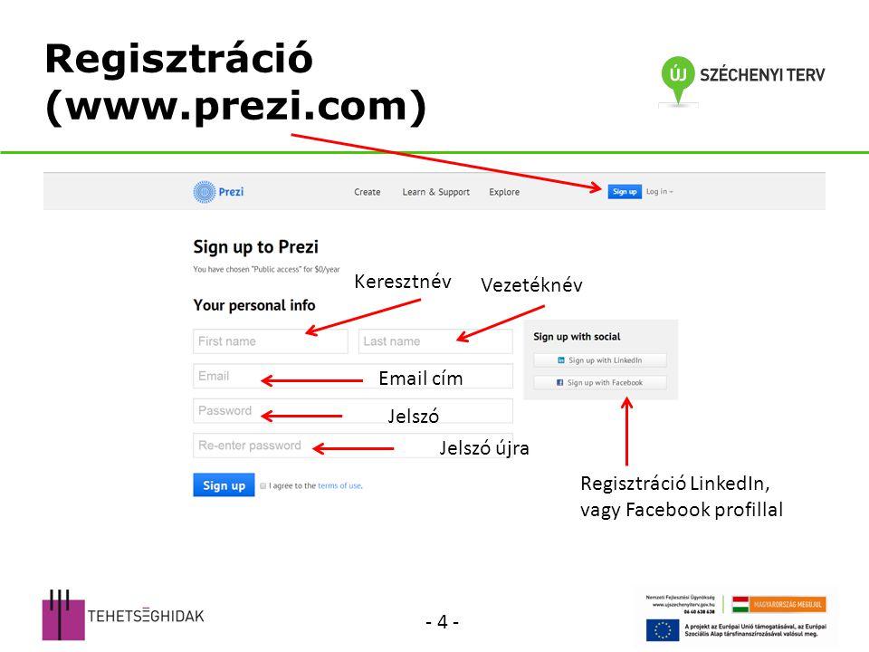 Regisztráció (www.prezi.com)