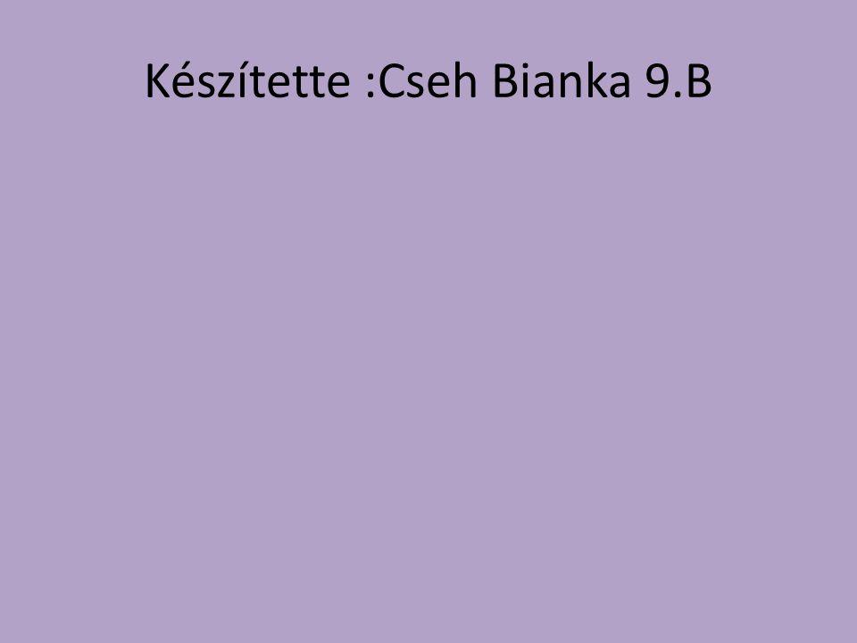 Készítette :Cseh Bianka 9.B