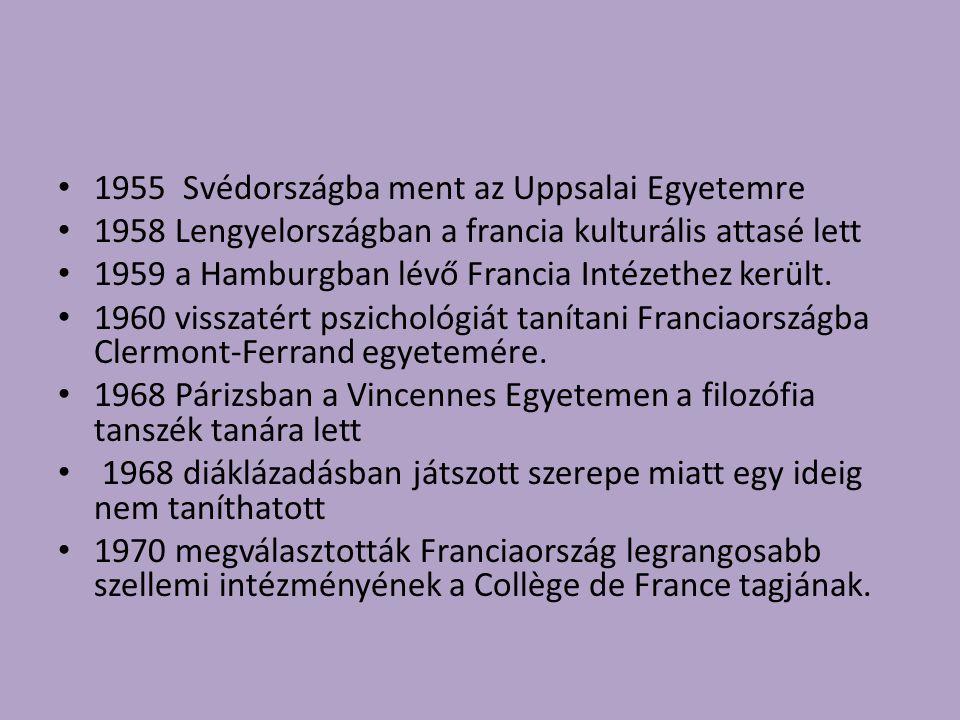 1955 Svédországba ment az Uppsalai Egyetemre