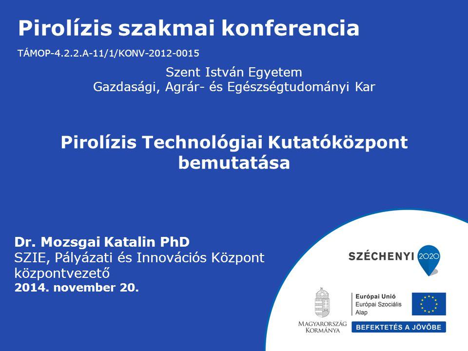 Pirolízis szakmai konferencia TÁMOP-4.2.2.A-11/1/KONV-2012-0015