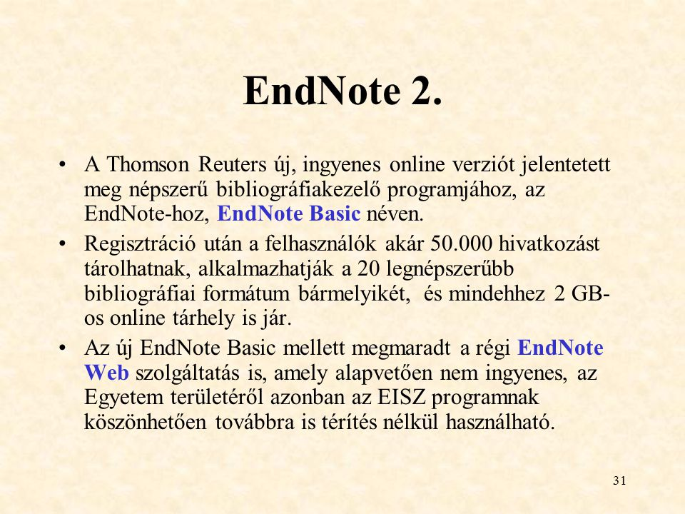 EndNote 2.