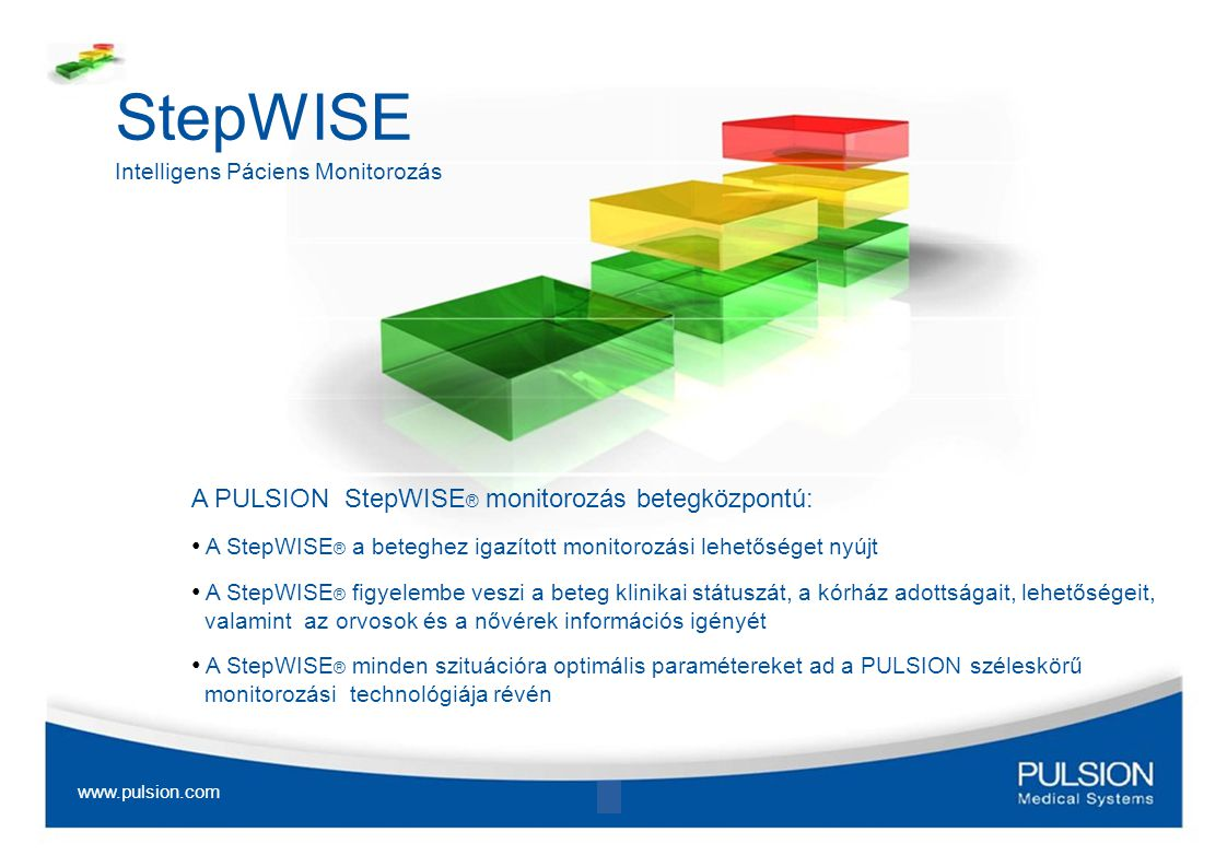 StepWISE A PULSION StepWISE® monitorozás betegközpontú: