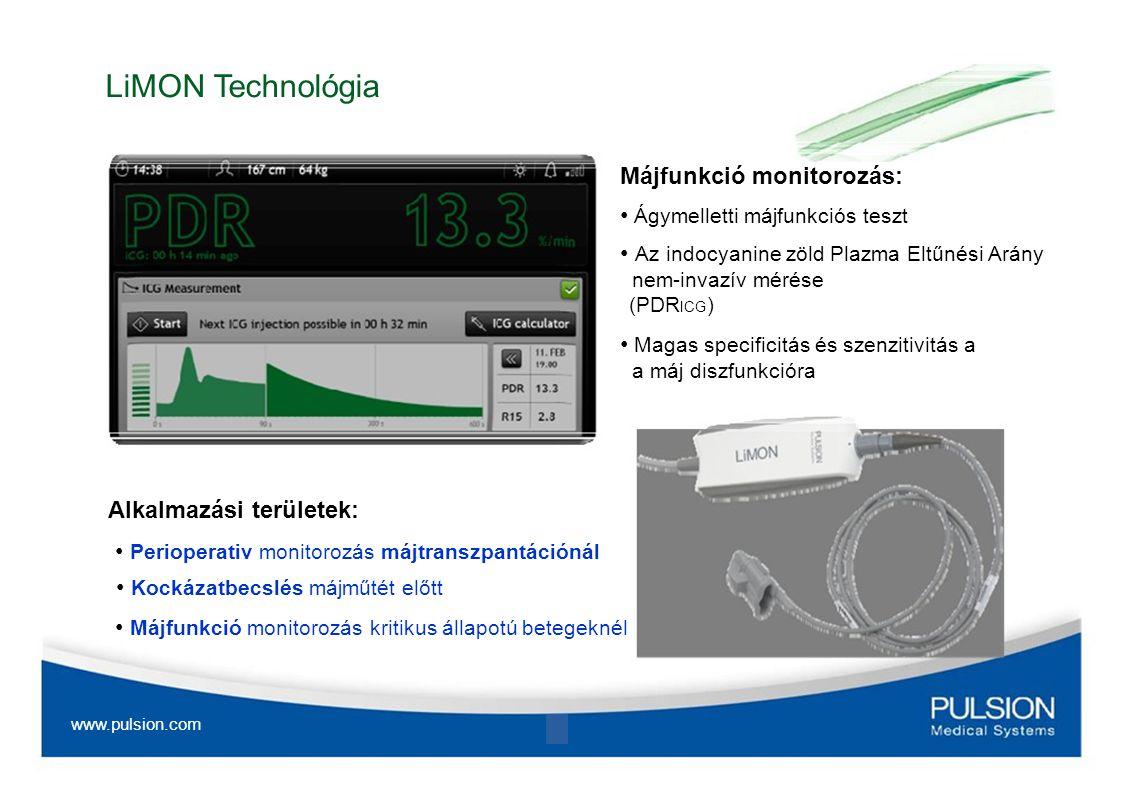 LiMON Technológia Májfunkció monitorozás: