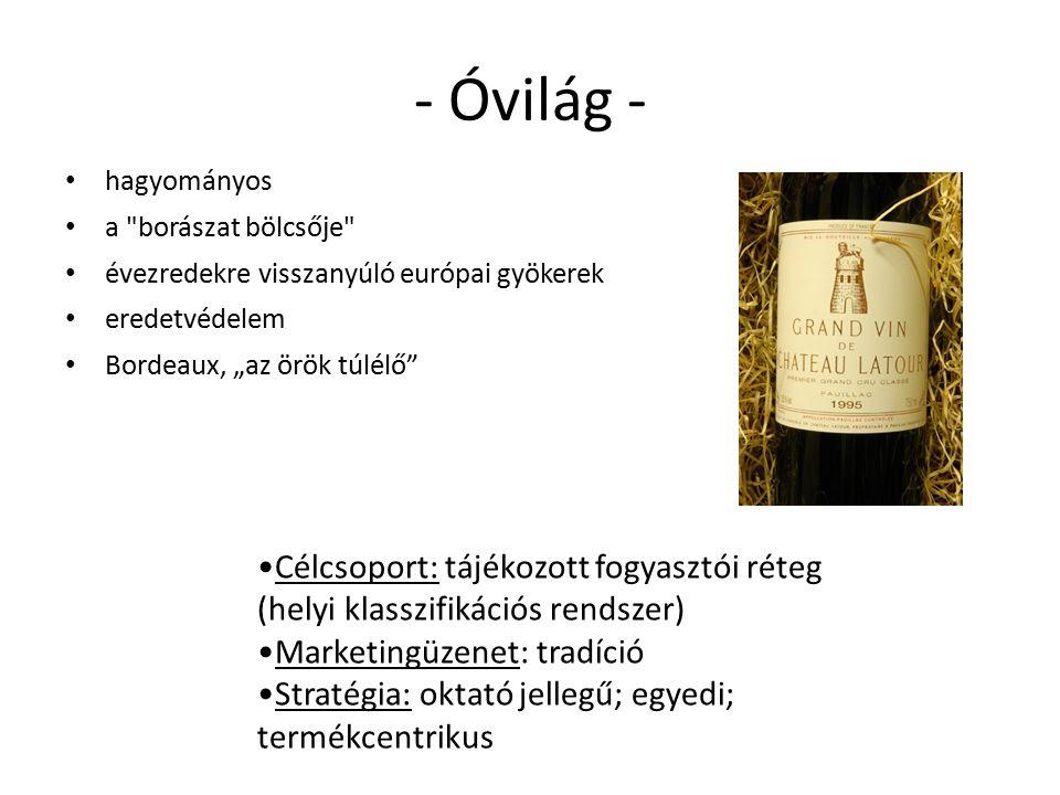 - Óvilág - hagyományos. a borászat bölcsője évezredekre visszanyúló európai gyökerek. eredetvédelem.