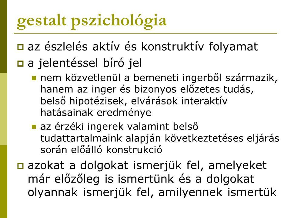gestalt pszichológia az észlelés aktív és konstruktív folyamat