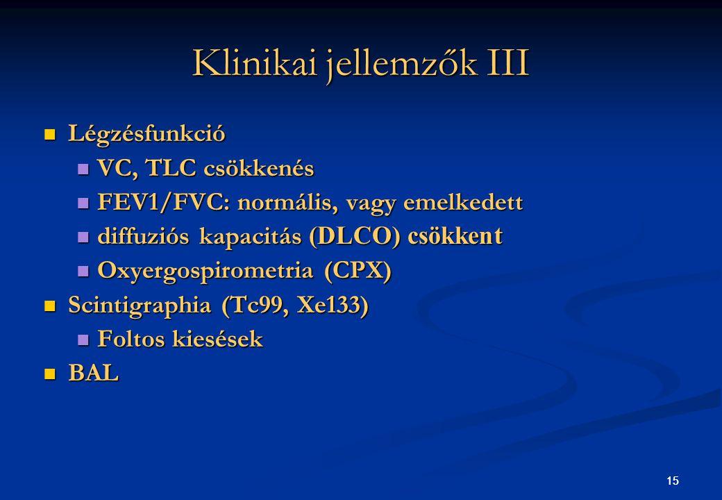 Klinikai jellemzők III