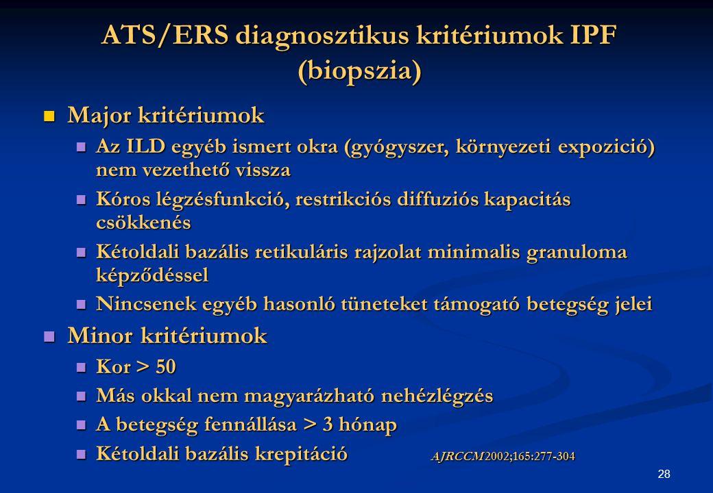 ATS/ERS diagnosztikus kritériumok IPF (biopszia)