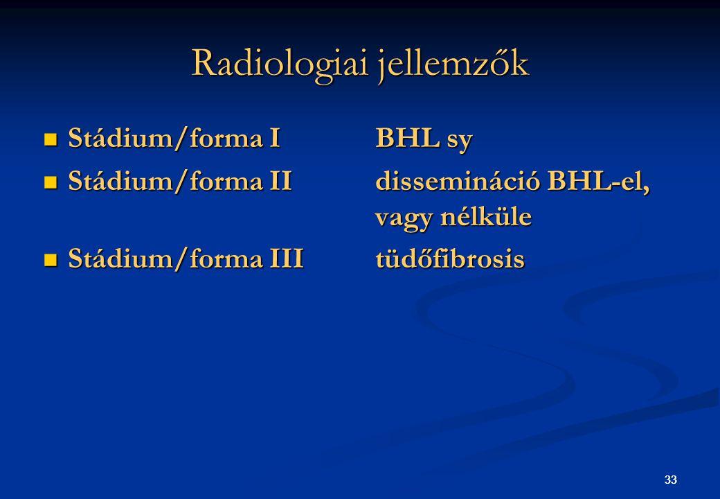 Radiologiai jellemzők