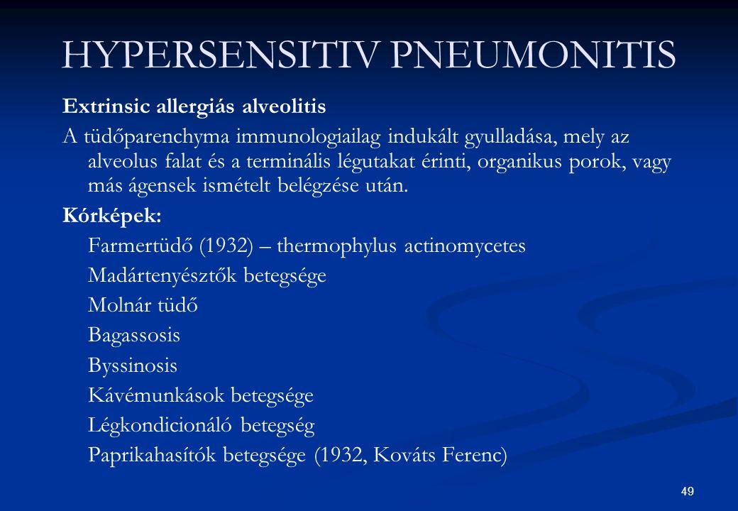 HYPERSENSITIV PNEUMONITIS