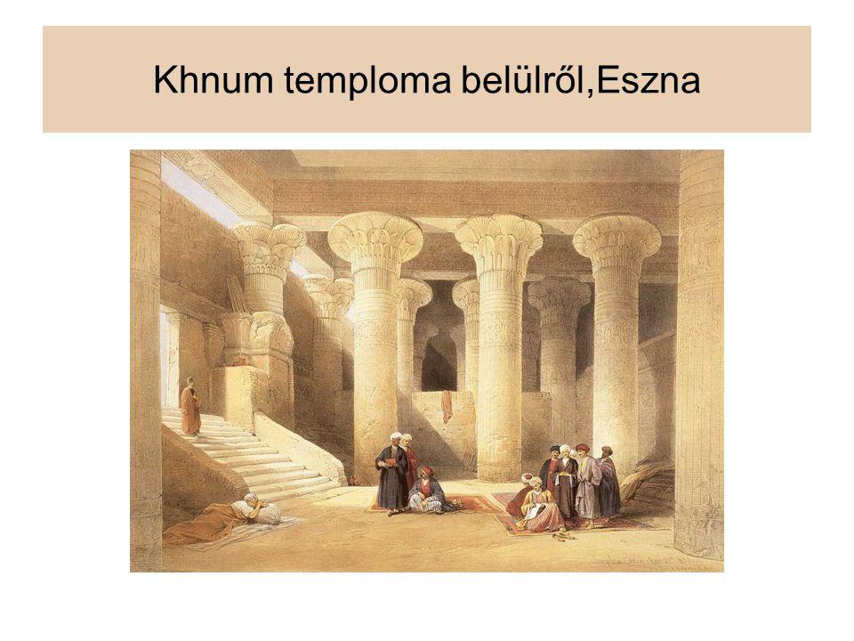 Khnum temploma belülről,Eszna