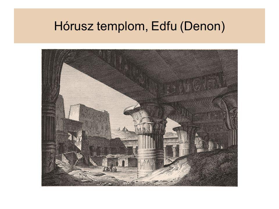 Hórusz templom, Edfu (Denon)