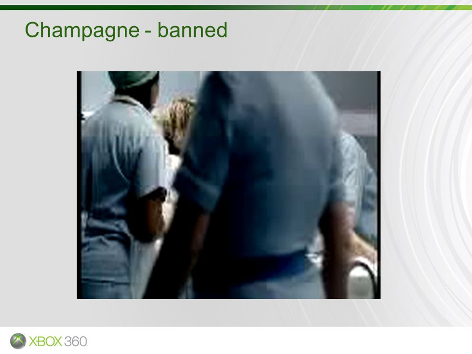 Champagne - banned