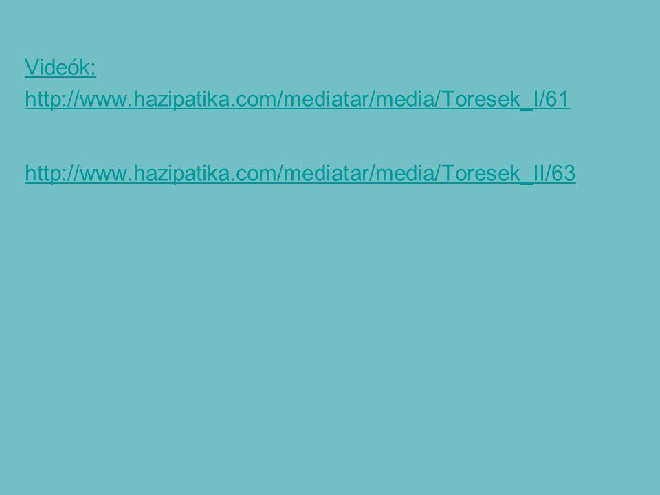 Videók: http://www. hazipatika