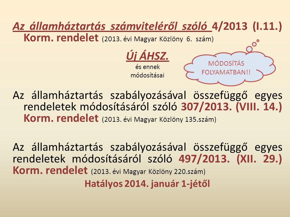 Hatályos 2014. január 1-jétől