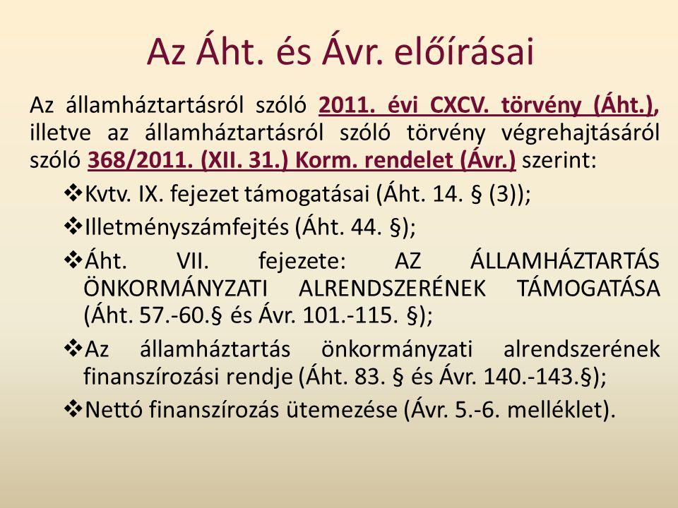 Az Áht. és Ávr. előírásai