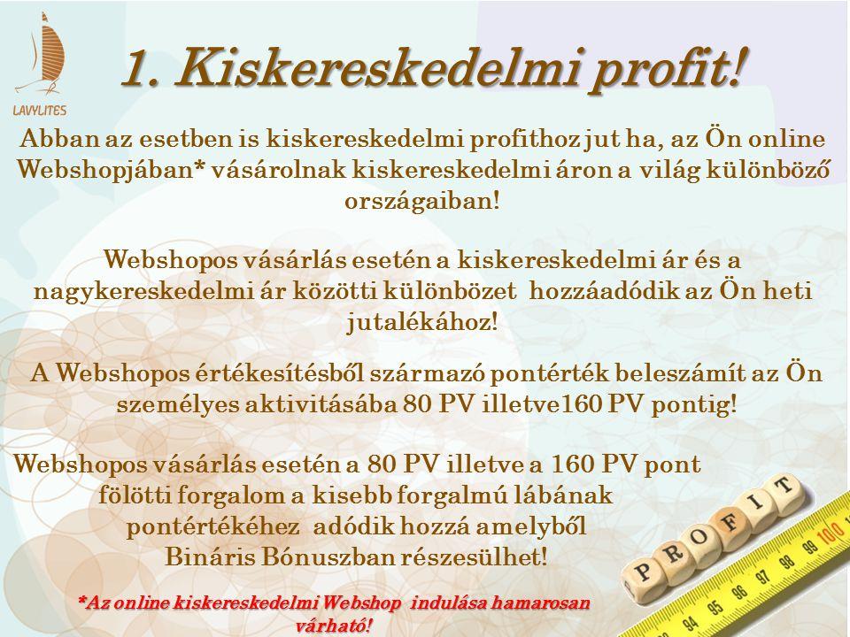 1. Kiskereskedelmi profit!