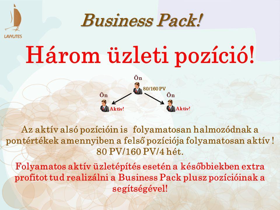 Három üzleti pozíció! Business Pack!