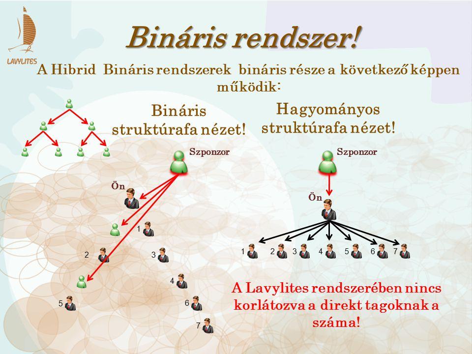 Bináris rendszer! Hagyományos Bináris struktúrafa nézet!