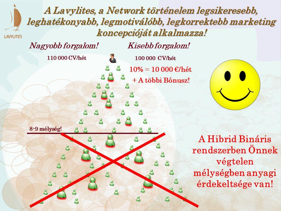 A Lavylites, a Network történelem legsikeresebb, leghatékonyabb, legmotiválóbb, legkorrektebb marketing koncepcióját alkalmazza!
