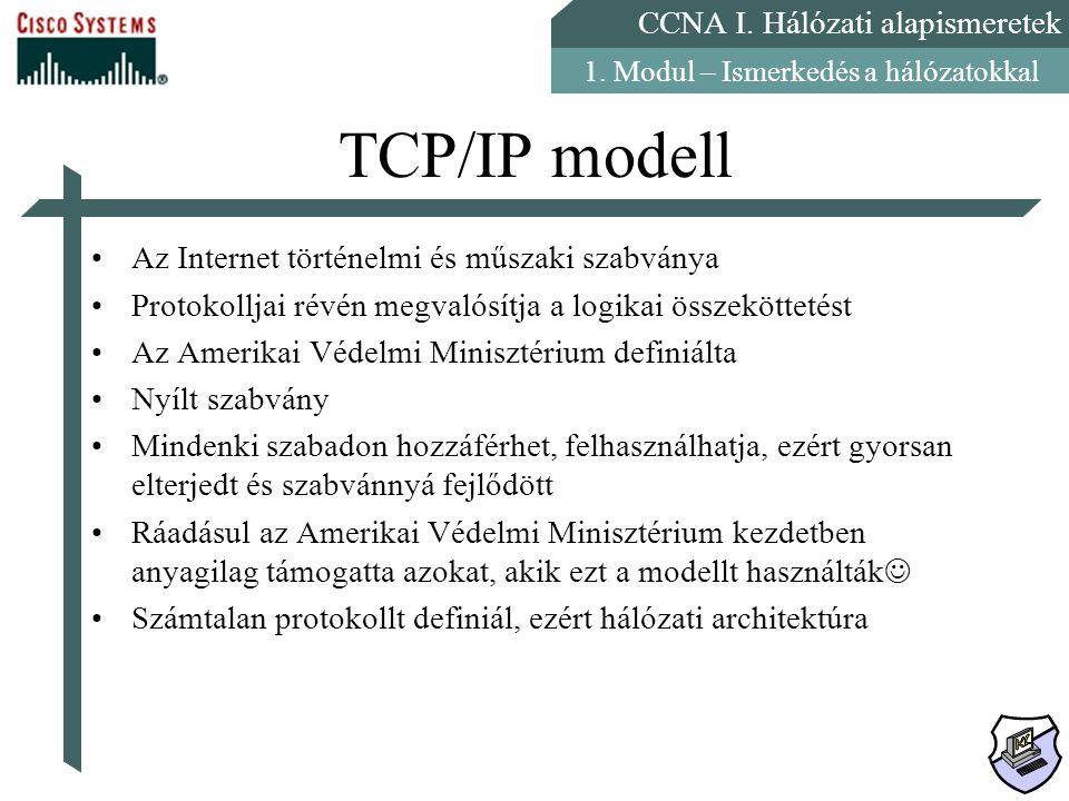 TCP/IP modell Az Internet történelmi és műszaki szabványa