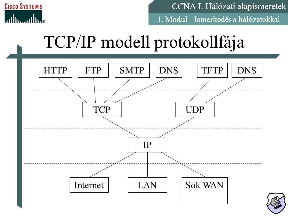 TCP/IP modell protokollfája
