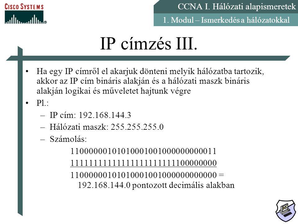IP címzés III.