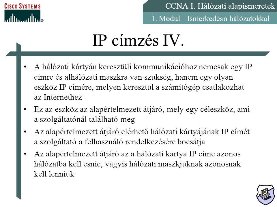 IP címzés IV.