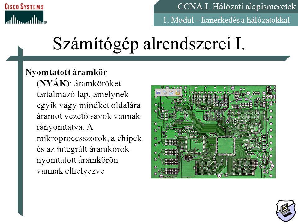 Számítógép alrendszerei I.